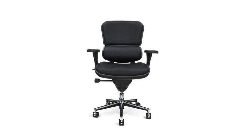 All-in-one adjustment lever controls height, seat depth, and recline adjustment
