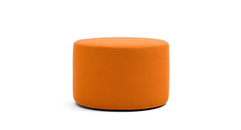 Ottoman works as a seat, table, or accent piece