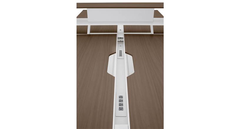 Provides a desktop power source for Bivi Tables with back pockets