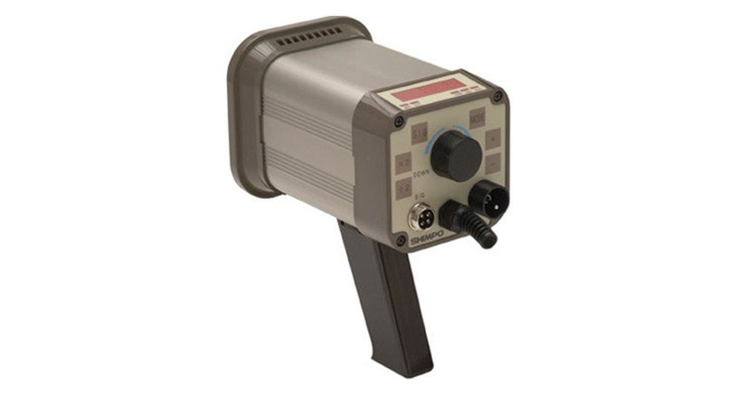 The Shimpo Heavy Duty Xenon Stroboscope has an LED display and easy-to-use rear controls.