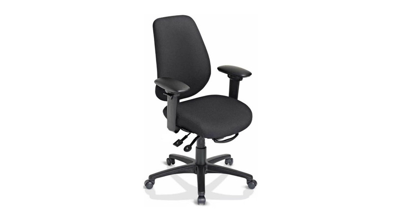 Fully upholstered dual curved backrest for exceptional lumbar support