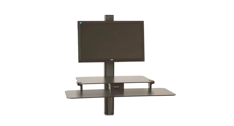 """24"""" x 16"""" work surface with a 32"""" x 13"""" keyboard tray"""