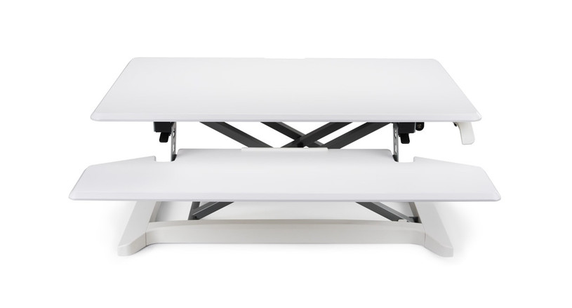 The XF Standing Desk Converter also comes in both black and white options