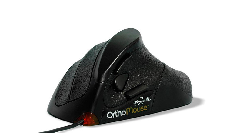 The Orthovia OrthoMouse Ergonomic Mouse features six different configurations available offer a custom fit