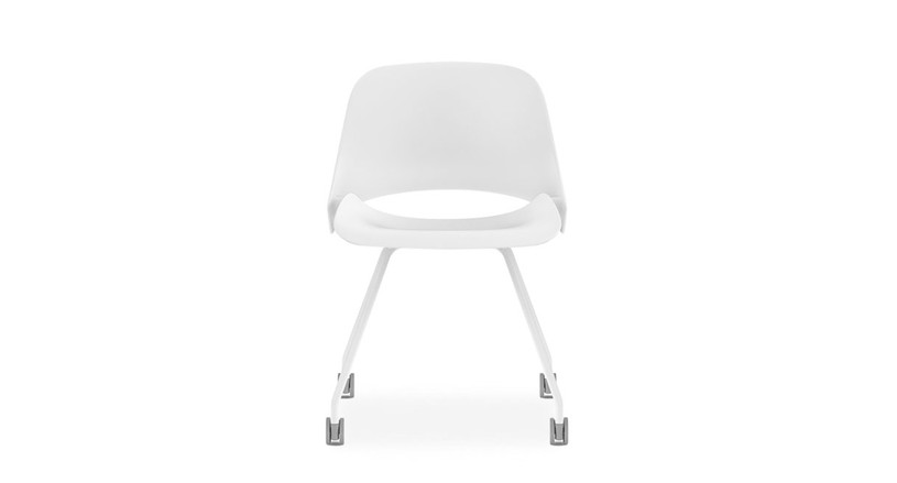 The Humanscale Trea Chair improves your office's style and comfort exponentially (shown with four leg frame)