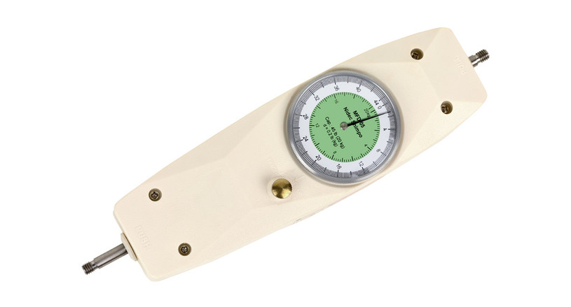 Shimpo's MFD-02 Dual Scale Mechanical Force Gauge delivers measurements of compression forces and tension on a single gauge