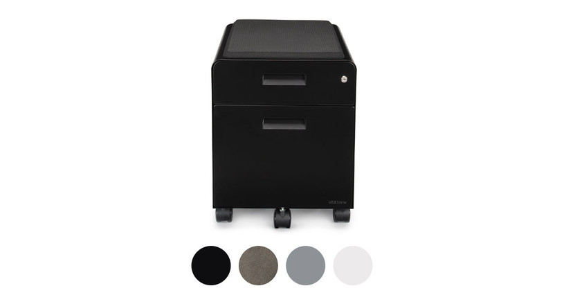 This product comes in black, metallic (industrial style), gray, and white color options to match your UPLIFT Desk frame