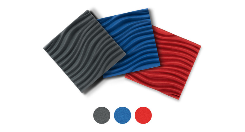 3D Wave Acoustic Wall Panel by UPLIFT Desk