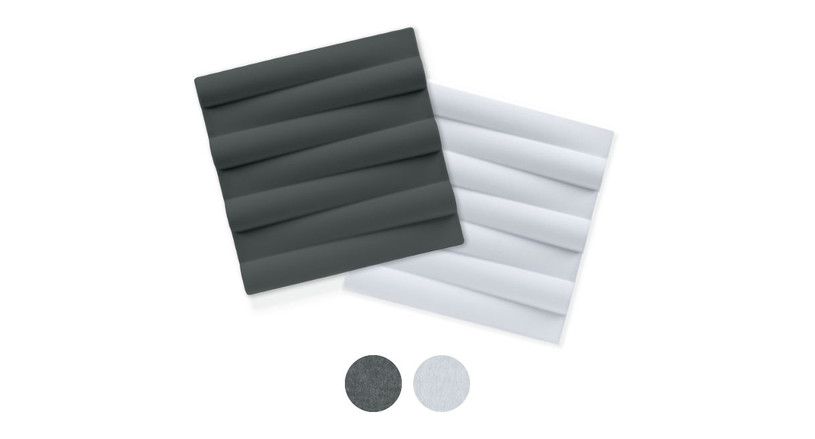 This product comes in both dark gray and white color options