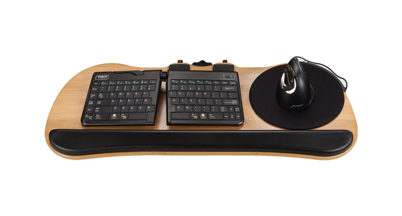 Big Standard Keyboard Bamboo Tray System by UPLIFT Desk blends sustainability and style