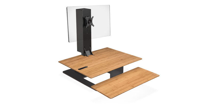 The E7 Electric Standing Desk Converter by UPLIFT Desk gives you a complete sit-stand working experience without having to replace your desk
