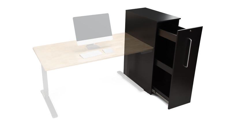 Organize your office with the Slide Out Office Storage Cabinet by UPLIFT Desk (Right of Desk option shown here)