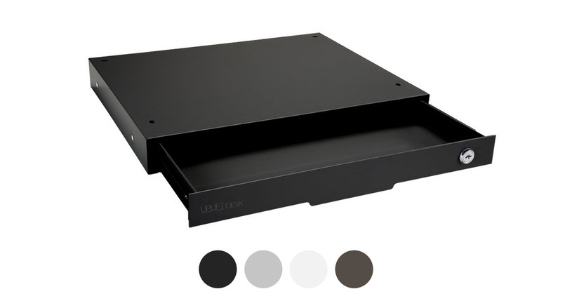 This product comes in black, gray, white and metallic color options to match your UPLIFT Desk frame