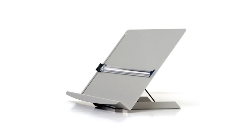 In-line positioning to maximizes data entry speed and encourages low risk posture while reading and typing