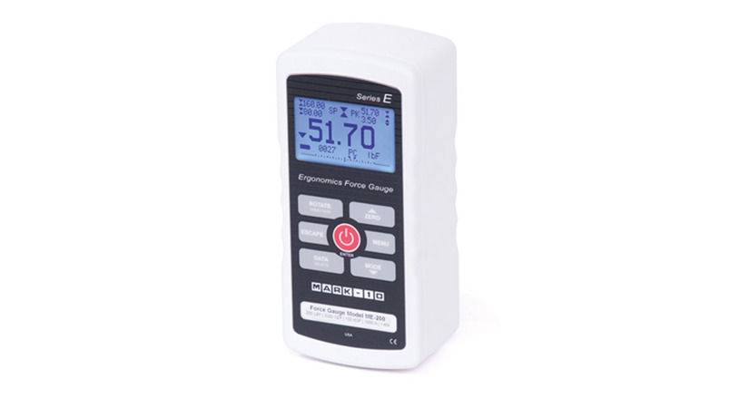 The Series E Force Gauge features an easy-to-read interface and simple design.
