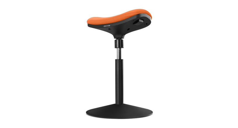 Enjoy an active seating experience on the E3 Crescent Saddle Stool