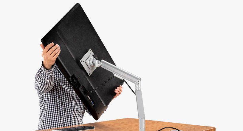 Adjust and move your monitor to a position that's best for your eyes with the Zilker Single Monitor Arm