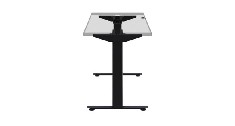 The versatile eFloat Lite Desk Frame for Rectangular Tops