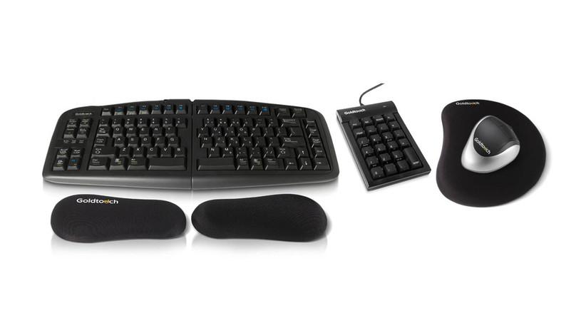 The entire Goldtouch ErgoSuite bundle works together for optimal ergonomics
