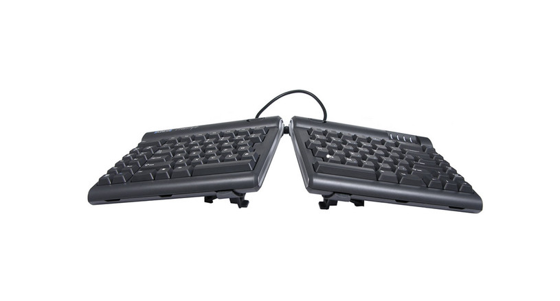 The Kinesis V3 Accessory Kit's left and right V3 V-Lifters quickly and easily alternate the slope of the keyboard