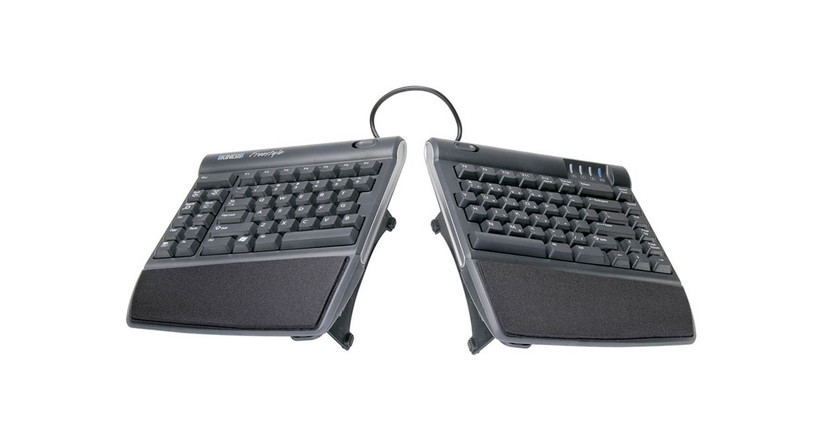 Alter the slope of your Freestyle2 keyboard to position your wrists and forearms comfortably