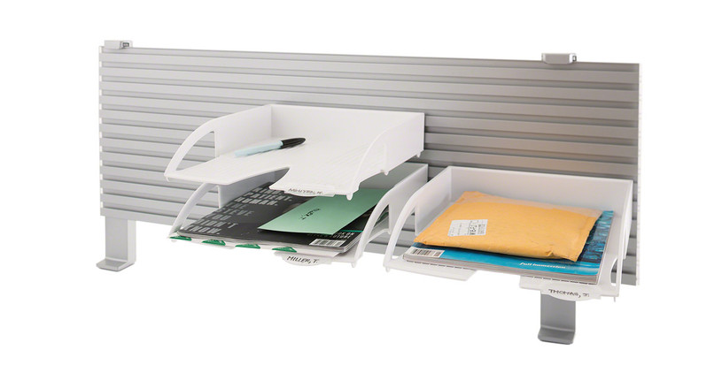 The Steelcase Worktools Letter Tray WL easily mounts to a Slatwall or Slatrail