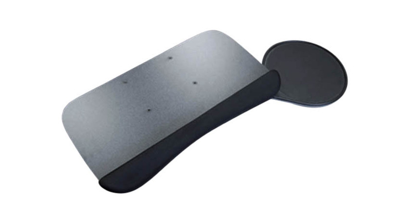 Anti-skid grip strips keep keyboard from moving around while in use
