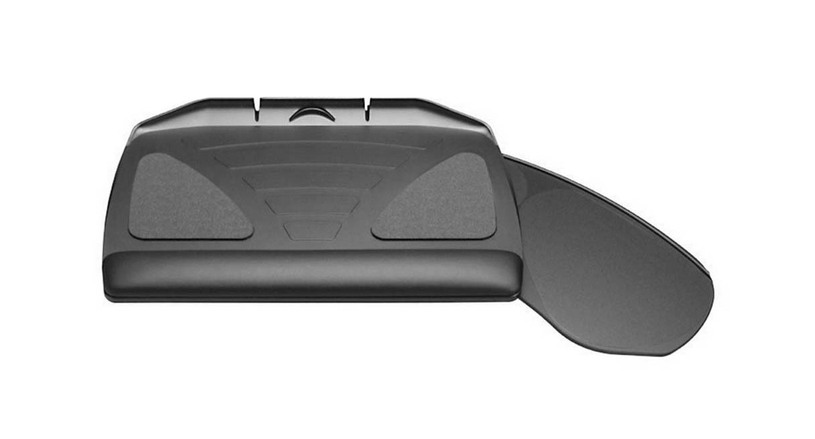 The Workrite Banana-Board Keyboard Tray's mouse-forward design ergonomically assists the forearms natural rotation arc