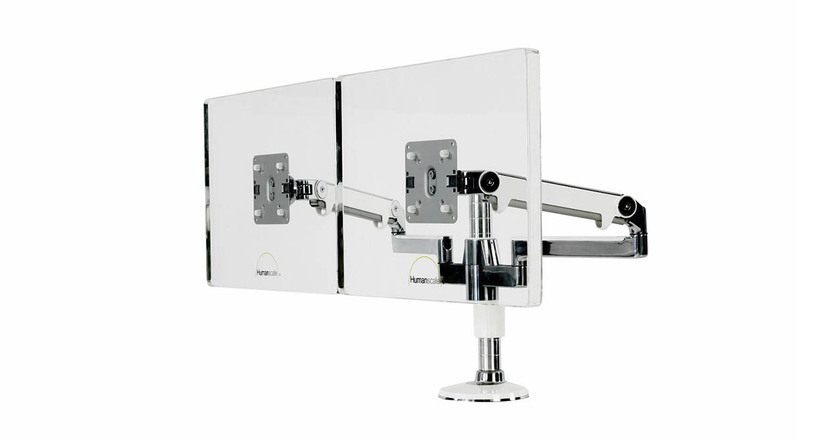 The Humanscale M/Flex Monitor Arm's completely modular design allows users to make adjustments without disturbing original configuration