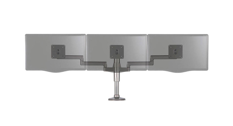 Work with a highly modular design allows for easy monitor expansion without sacrificing stability with the Humanscale M/Flex Monitor Arm