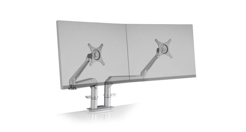 Sleek, modern design with two individually adjustable arms
