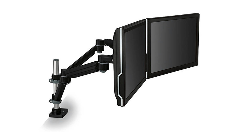 Enjoy 360 degree rotation with the 3M Easy-Adjust Dual Monitor Arm MA260MB