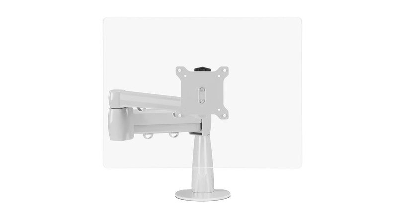 The Range Single Monitor Arm lets you position your monitor where it's most comfortable