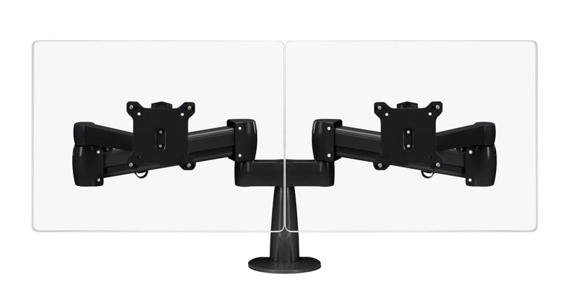 The Range Dual Monitor Arm gives your dual monitor setup some elevation via easy pneumatic adjustments