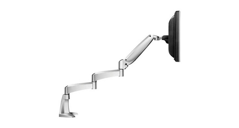 The Workrite Poise LCD Monitor Arm Extended Reach makes it possible for technology to adjust to the user rather than forcing the user to adjust to the technology