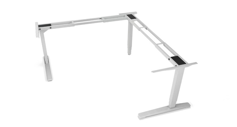 Magnificent Uplift V2 L Shaped Height Adjustable Desk Frame Only Home Remodeling Inspirations Propsscottssportslandcom