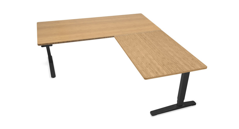"""Laminate and bamboo desktops are 1"""" thick and provide a stable, reliable, and roomy work space"""