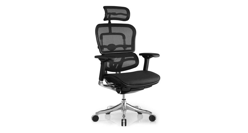 The Ergo Elite's back angle can be locked in 5 positions - 4 different positions of recline or upright