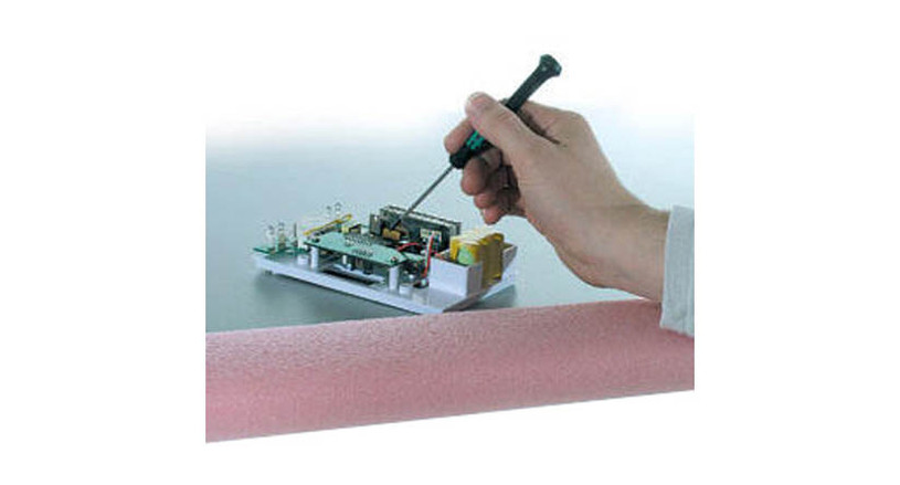 Comes in pink, the national color for static dissipative materials