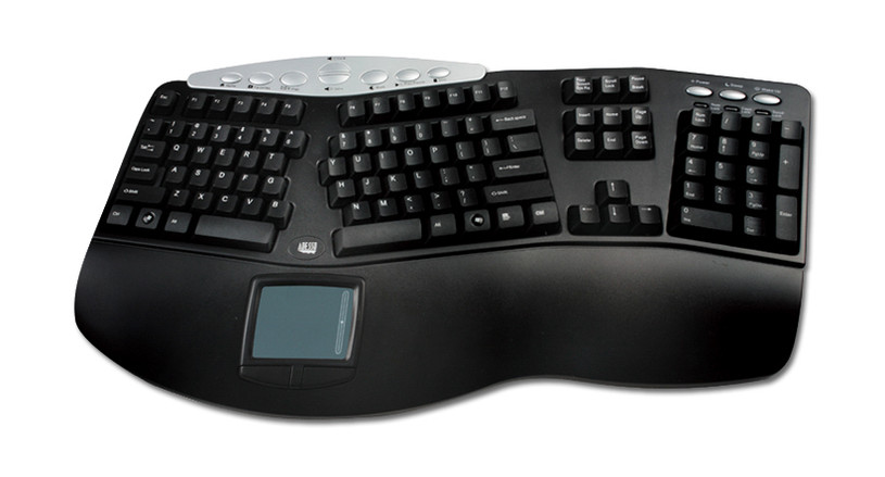 Comes with an ergonomic keyboard, an integrated touchpad, numeric pad, multimedia keys, and hot buttons