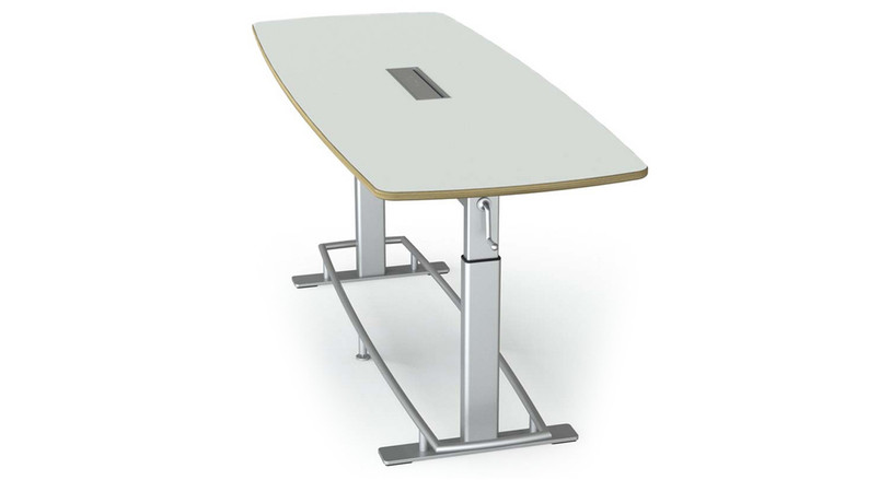 Powder-coated, brushed recycled aluminum legs provide 300 lb weight capacity