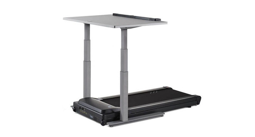 "Desk adjusts for users from 4'10"" to 6'8"" tall via an electronic control panel with 2 programmable presets"