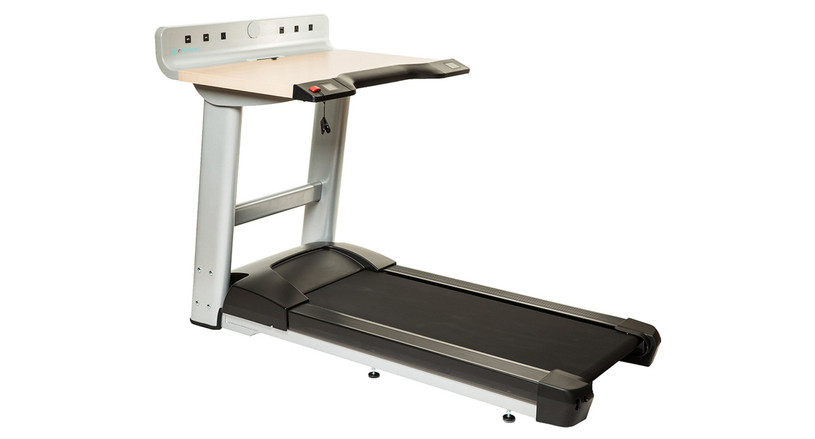 """Desk features electric height adjustment to fit users anywhere from 4'10"""" to 6'6"""" tall"""