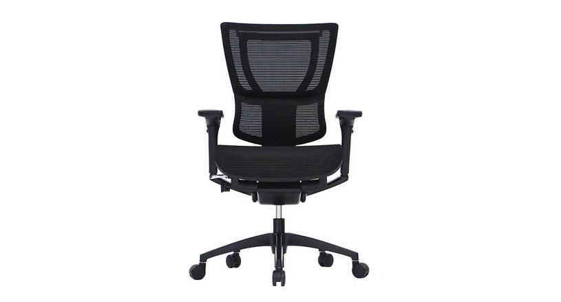 The Raynor Eurotech iOO Chair's recline tension control lets you choose the tilt of the back