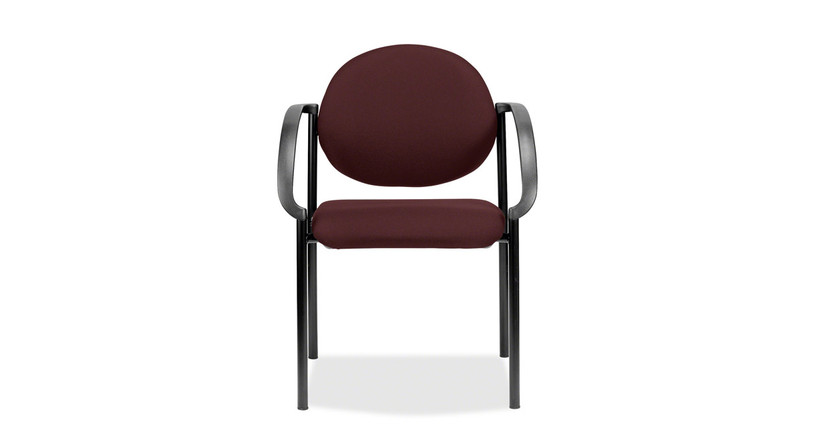 The Eurotech Dakota Stacker Guest Chair's padded seat cushion supports sitters ideally