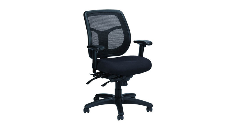 The Eurotech Apollo MFT945SL Mesh Chair's new and improved new seat slider delivers extra comfort and adjustability