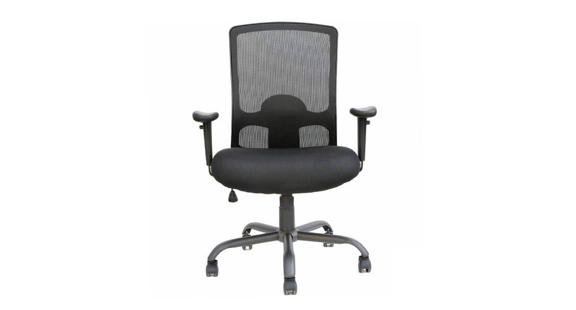 Tilt tension control with tilt lock adapts the rate of recline to your weight