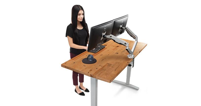 UPLIFT Rectangular Reclaimed Wood Desktops