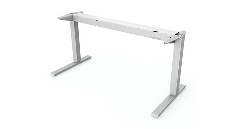 "The Humanscale Float Table Base provides 20"" of easy-to-make height adjustment via one hand."