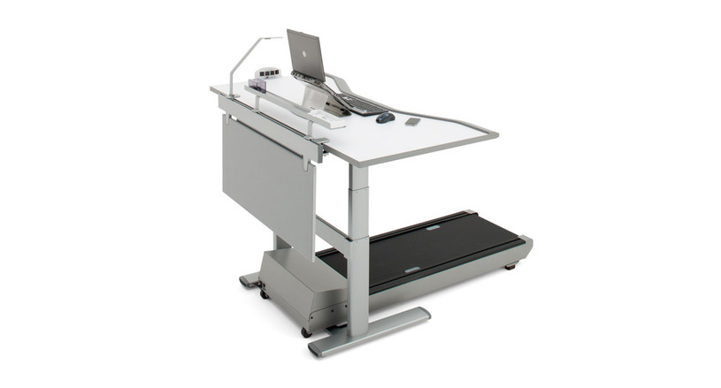 One-of-a-kind integrated treadmill and desk to keep you moving while you work